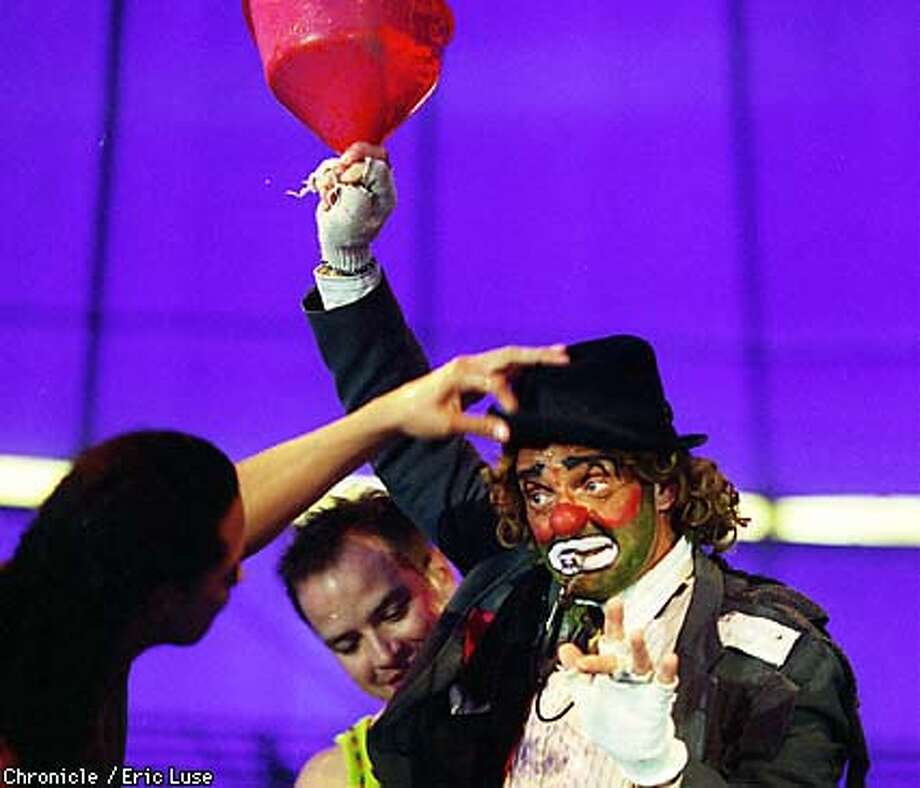 Circus Chimera hobo clown Archie (Robert Bruce) during a skit called wet and wild.  BY ERIC LUSE/THE CHRONICLE Photo: ERIC LUSE