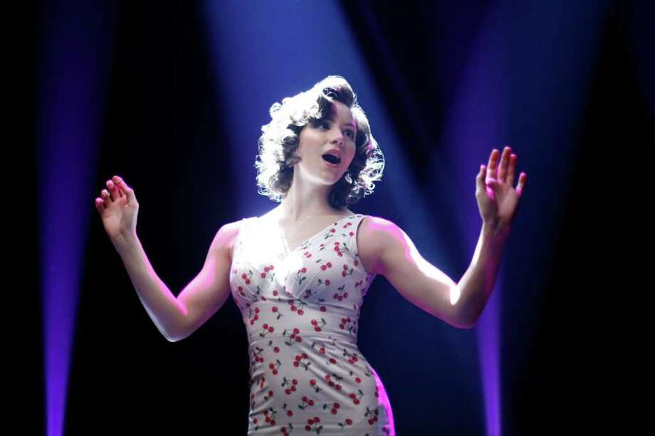 Former American Idol contestant Katherine McPhee, above, stars as a singer hoping to make it big in a Broadway show about Marilyn Monroe in Smash, a new musical drama premiering at 9 p.m. Monday on NBC. The all-star cast includes Debra Messing, Anjelica Huston and Megan Hilty. Photo: Will Hart / ©NBCUniversal, Inc.