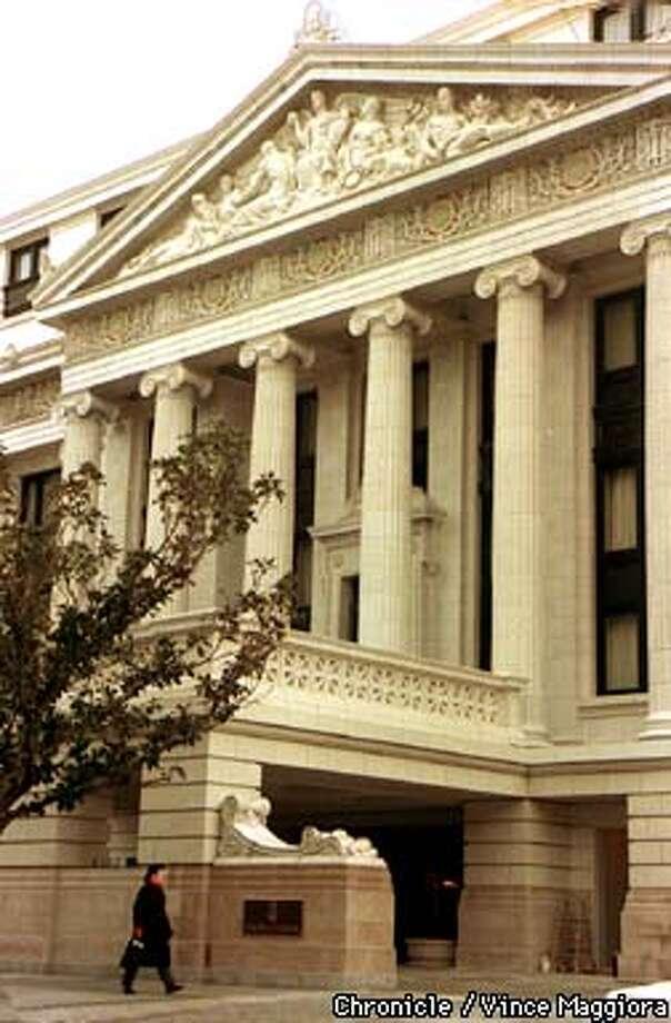 RITZ/C/01APR91/BU/VINCE MAGGIORA  NEW RITZ-CARLTON HOTEL EXTERIOR IN 1991, 600 STOCKTON STREET, SF