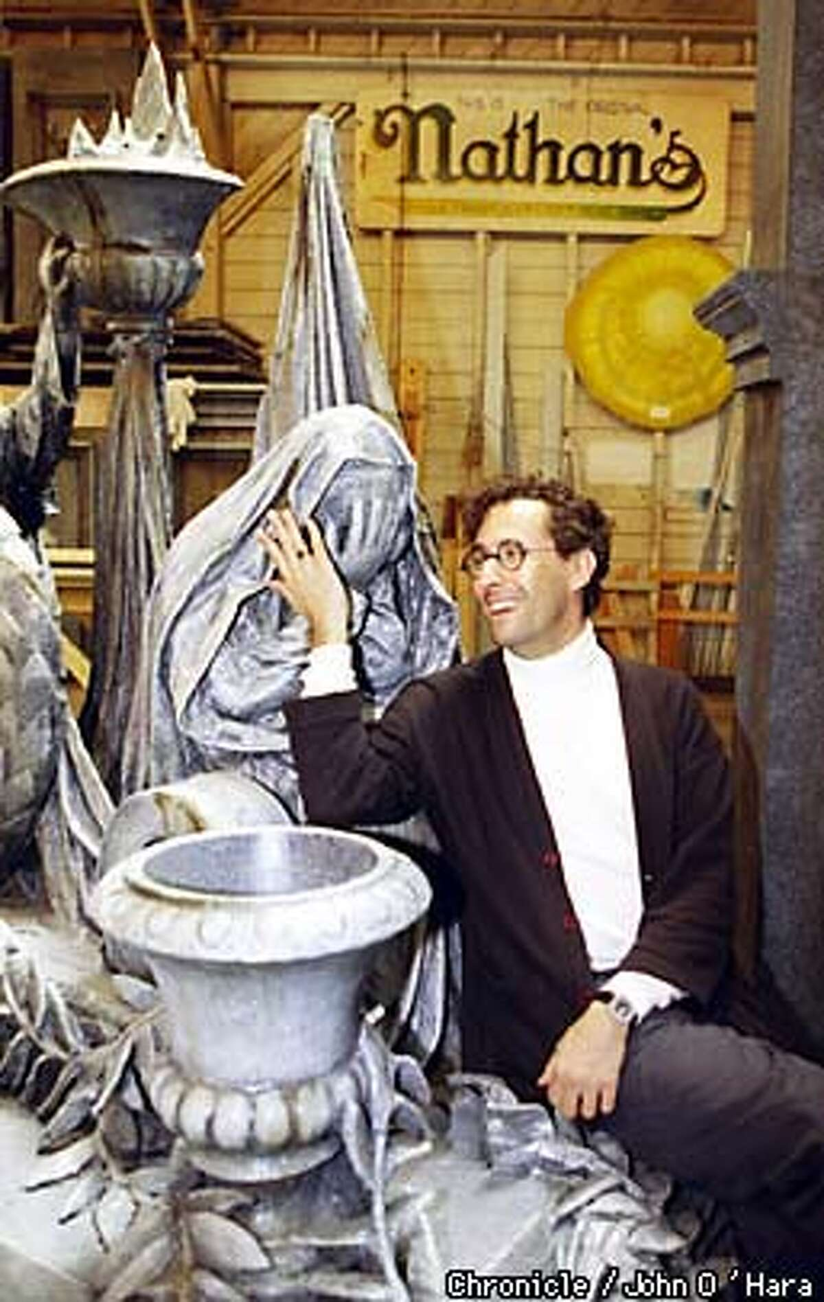 Berkeley, CA. Berkeley Rep Scenery Shop. 1230 Fifth st. Tony Kushner, with the set of