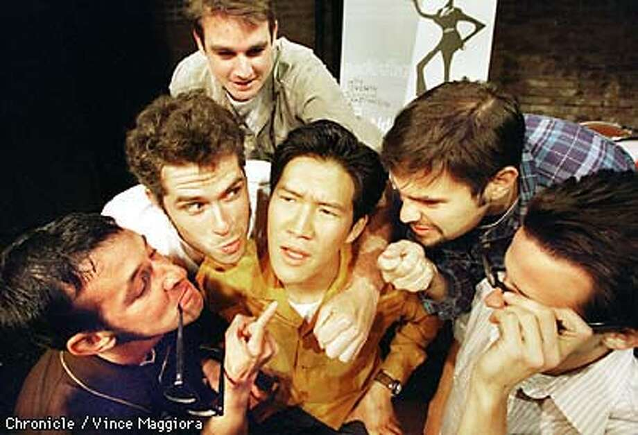 = The comedy group Killing My Lobster from L to R Marc Vogl , Brian L. Perkins , Peter Nachtrieb , Paul Charney , Bill Donoghue and Daniel Lee in the center at the Exit Theater 156 Eddy St. SF. by Vince Maggiora Photo: VINCE MAGGIORA