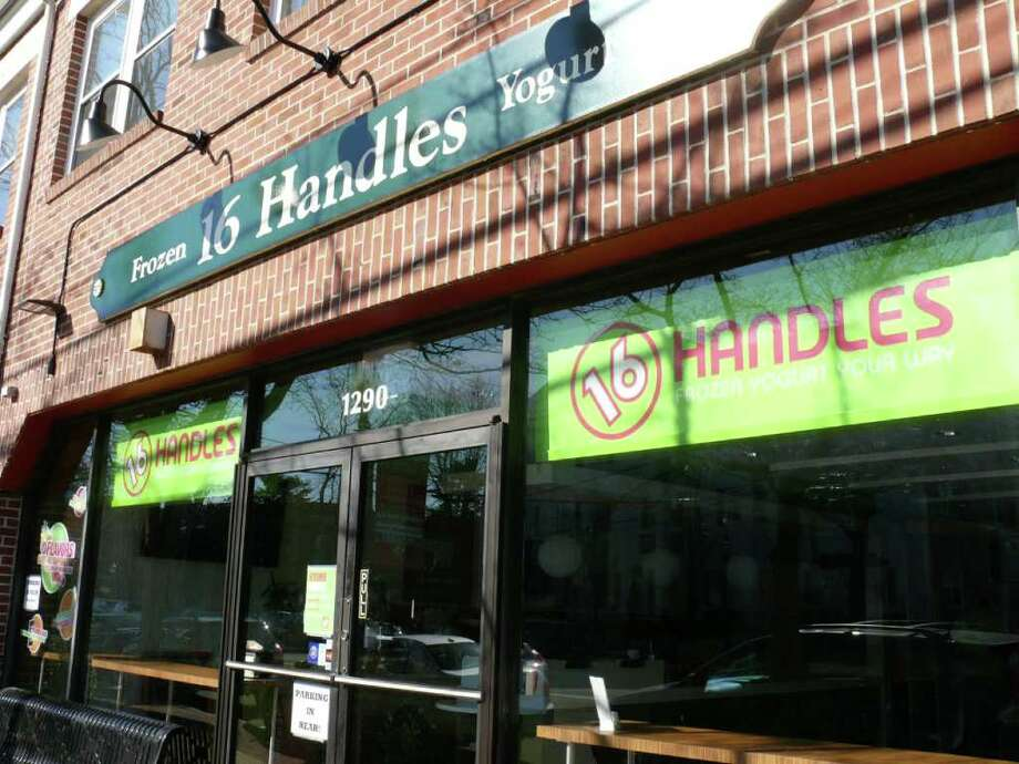 16 Handles, one of the downtown yogurt shops, received a waiver from the Zoning Board of Appeals that will allow it to add more tables. Photo: Genevieve Reilly / Fairfield Citizen