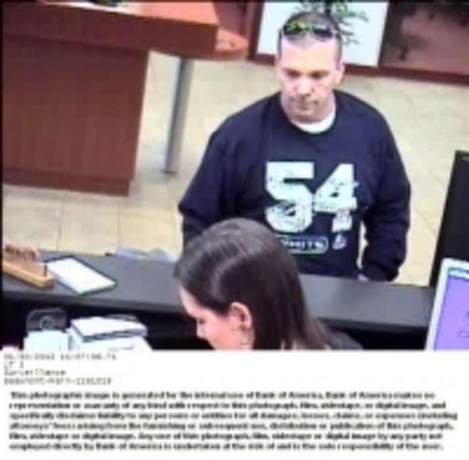 Surveillance cameras captured these images of a robber at Bank of America on Monday morning. Photo: Beaumont Police Department