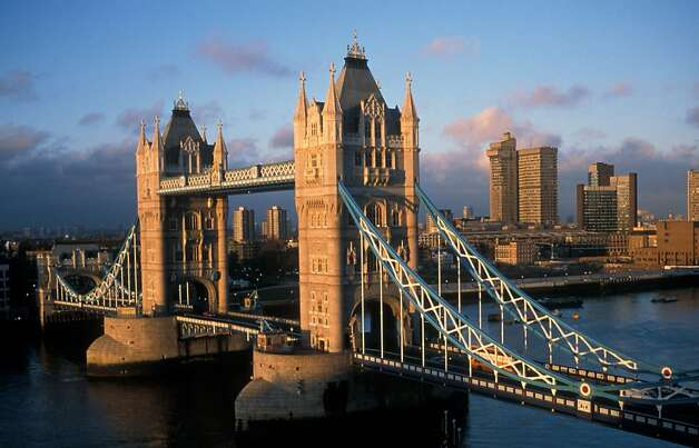 Historic London icon Tower Bridge, spanning the River Thames since 1894, bathed in early morning sunlight. Photo: Visit London Images