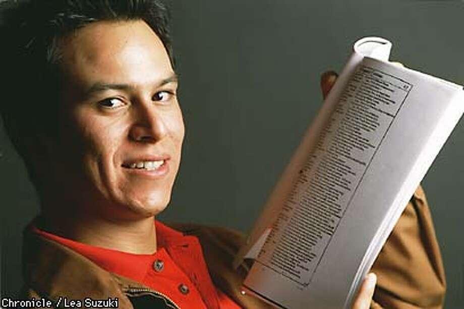 First Job Actor, Thomas Nieto. Photo By Lea Suzuki Photo: LEA SUZUKI