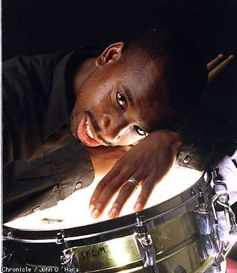 Timothy J. McBride, S.F. Conservatory of Music with snare drum  BY JOHN O'HARA/THE CHRONICLE Photo: JOHN O'HARA