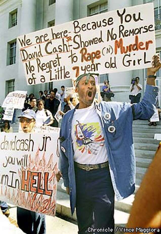 = Protest on the UC campus over David Cash student at UCB did not stop his friend Jeremy Strohmeyer killing Sherrice Iverson . by Vince Maggiora Photo: VINCE MAGGIORA