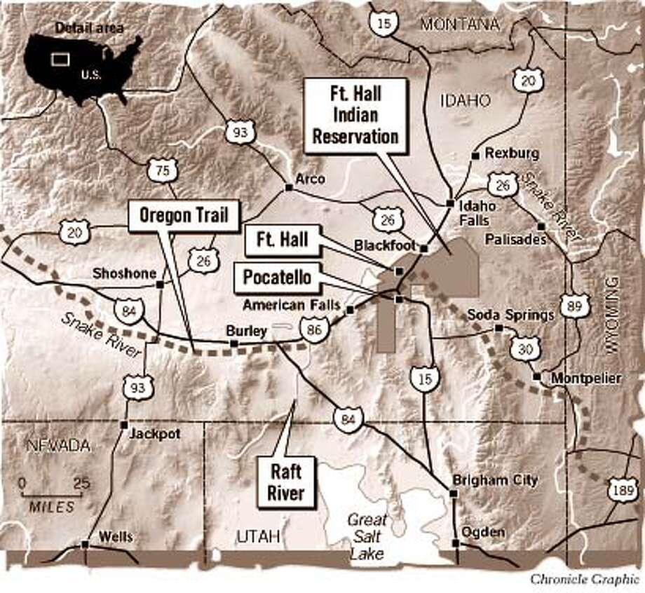 Fort Hall Indian Reservation. Chronicle Graphic