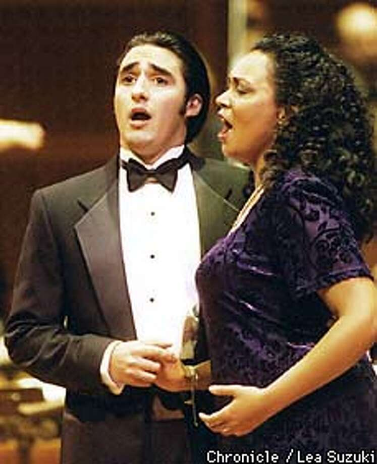 Charles Castronovo, Tenor, sings with Jennifer Davison, soprano, during the annual Merola Grand Opera performance at Davies Symphony Hall.  BY LEA SUZUKI/THE CHRONICLE Photo: LEA SUZUKI