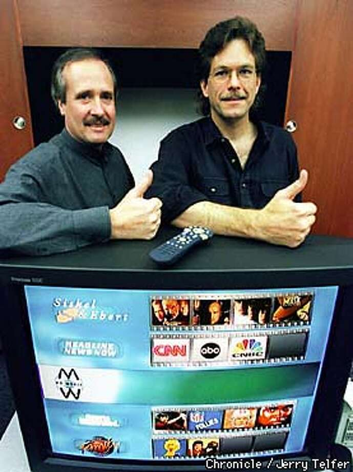 Mike Ramsay and Jim Barton, co-founders of Sunnyvale, CA's Teleworld, are preparing a new TV apparatus that will pause live TV and allow tailored taping of other programs. The new product is called TiVo. 894 Ross Drive BY JERRY TELFER/THE CHRONICLE Photo: JERRY TELFER