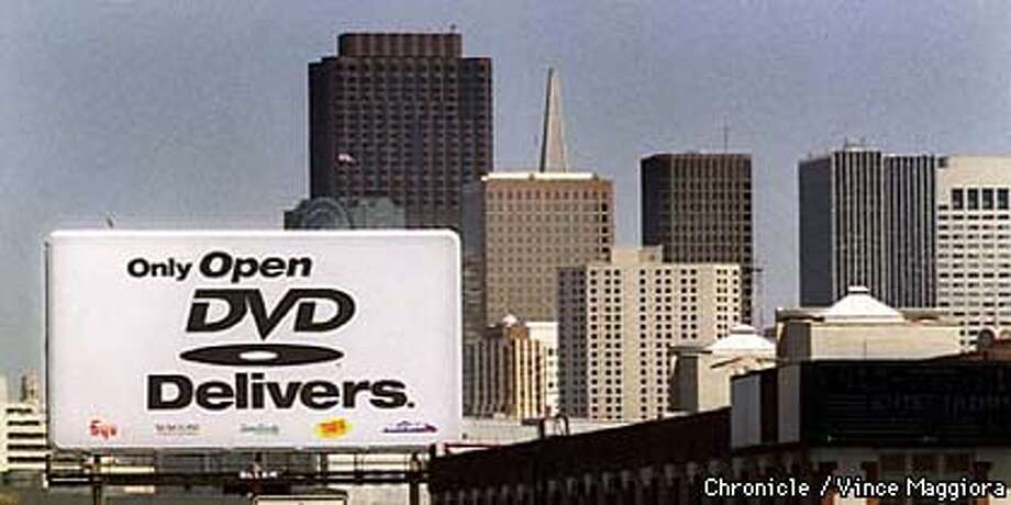 = DVD billboard off of highway 101 near the 7th street off ramp SF. By Vince Maggiora Photo: VINCE MAGGIORA