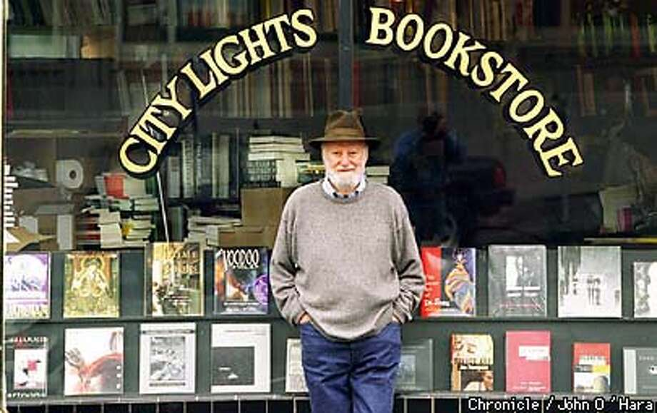 Lawrence Ferlinghetti,Poet, publisher, bookstore owner recently published 40th Anniv. of City Lights Poetry Anthology.  Photo by...........John O'Hara Photo: JOHN O'HARA