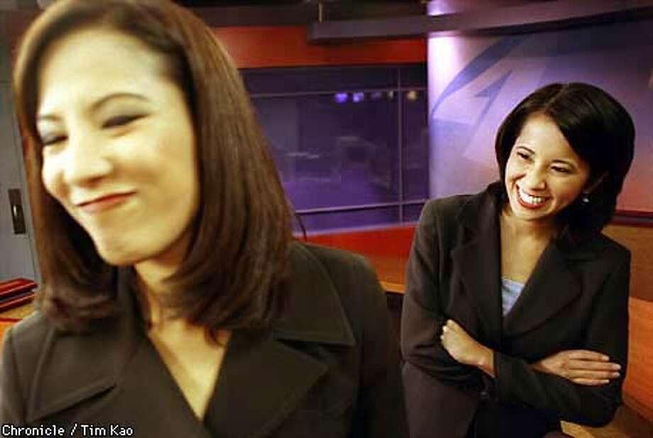 =Malou and Christine Nubla, sister broadcasters for KRON.  BY TIM KAO/THE CHRONICLE Photo: TIM KAO
