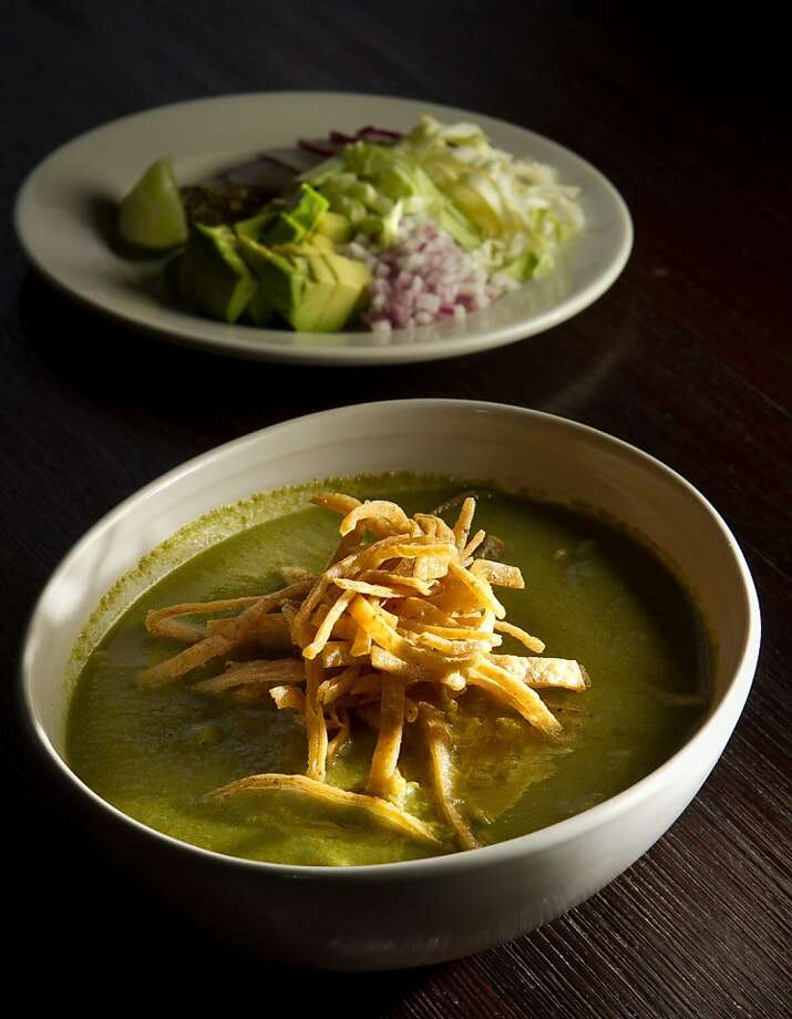 The Pozole Verde at Rumbo al Sur Restaurant in Oakland, Calif., is seen on Thursday, January 26th, 2012. Photo: John Storey, Special To The Chronicle