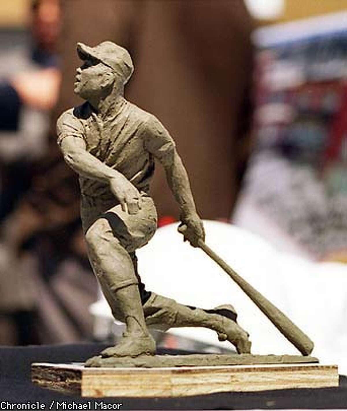 The Giants will honor Willie Mays with a bronze statue at the entrance of the new Pacific Bell Ballpark. A clay model of the sculpture, by artist William Behrends, will be over 9 feet tall. By Michael Macor/The Chronicle