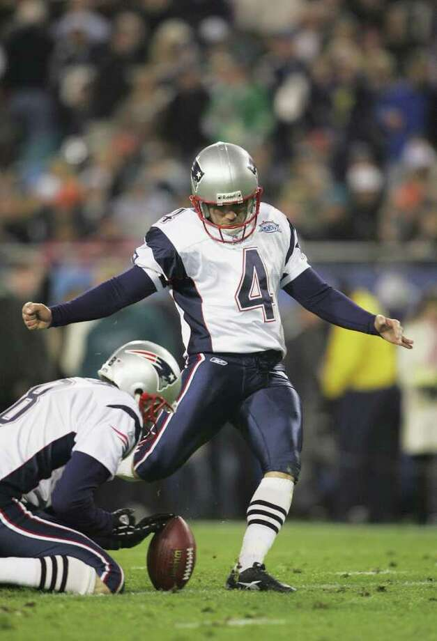 14. Super Bowl XXXIX New England 24, Philadelphia 21: An Adam Vinatieri field goal provided the margin of victory - for the third time in a Super Bowl in his career - but a late Donovan McNabb touchdown pass to Geg Lewis kept things interesting almost to the end.  Photo: Andy Lyons, Getty Images / 2005 Getty Images