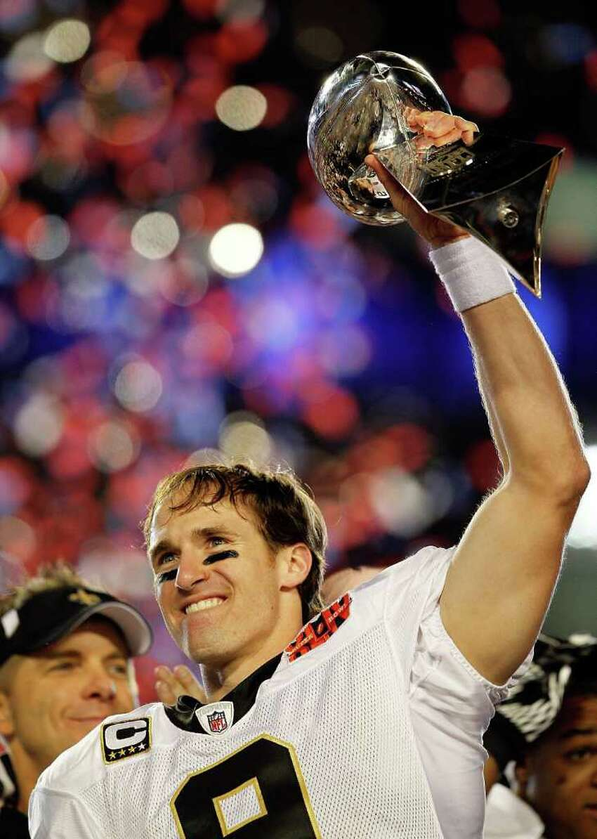 13. Super Bowl XLIV New Orleans 31, Indianapolis 17: The favored Colts took a 17-16 lead into the fourth quarter, but a Drew Brees touchdown pass followed by Terry Porter's pick six at Peyton Manning's expense gave the long-sorry franchise its first Lombardi Trophy in its first Super Bowl.