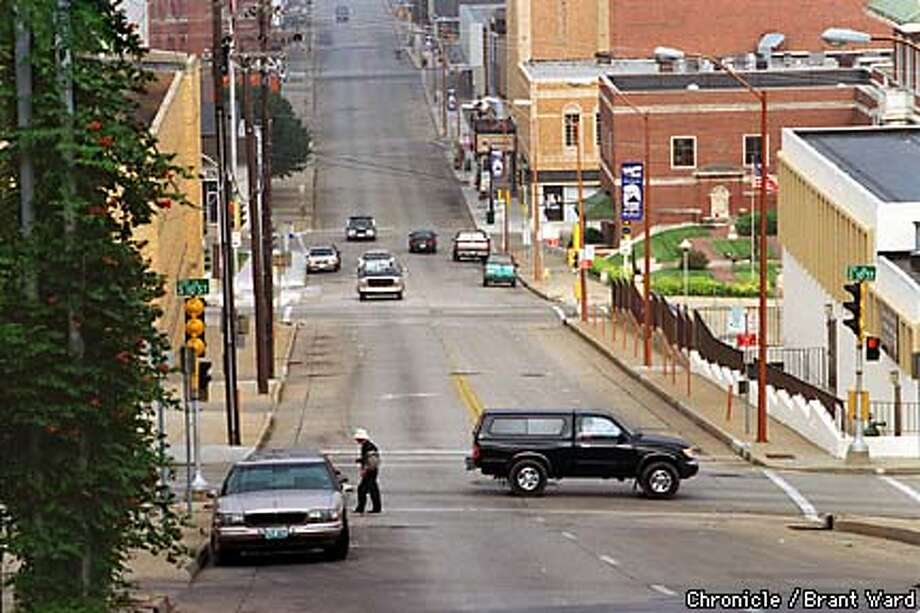 View of historic Museum Hill in St. Joseph, Missouri, where beautiful brick buildings are slowly being restored. DOWNTOWN STREET SCENE SHOWING HOW DESOLATE THINGS ARE HERE. BY BRANT WARD/THE CHRONICLE Photo: BRANT WARD