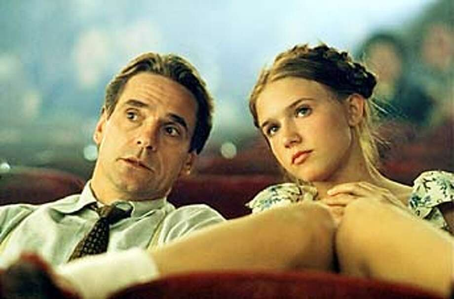 "Jeremy Irons (left) as Humbert Humbert and Dominique Swain as Lolita in ""Lolita.""  HANDOUT  HANDOUT Photo: HANDOUT"