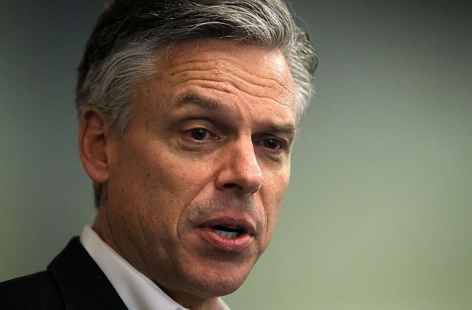 PORTSMOUTH, NH - FILE:  Republican presidential candidate, former Utah Gov. Jon Huntsman speaks to local business owners during a business lunch January 5, 2012 in Portsmouth, New Hampshire. According to reports announced January 15, 2012, Huntsman is expected to withdrawal from the GOP race for Republican nomination.   (Photo by Alex Wong/Getty Images) Photo: Alex Wong, Getty Images