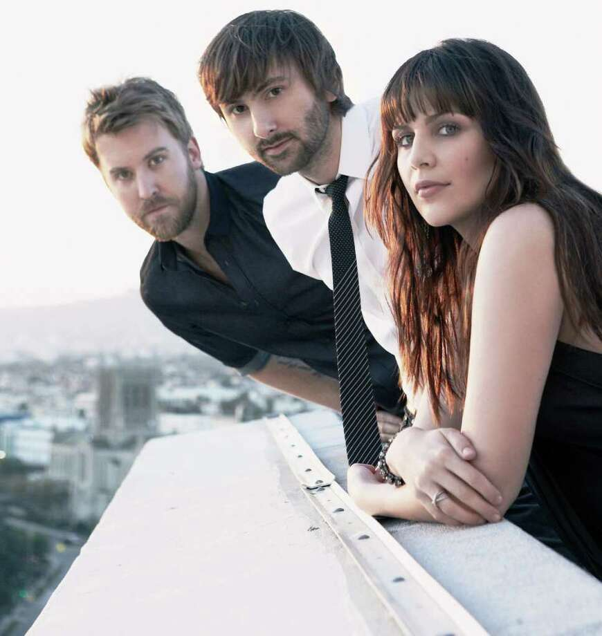 Country group Lady Antebellum -- from left, Charles Kelley, Dave Haywood, Hilary Scott Photo: Courtesy Capitol Nashville