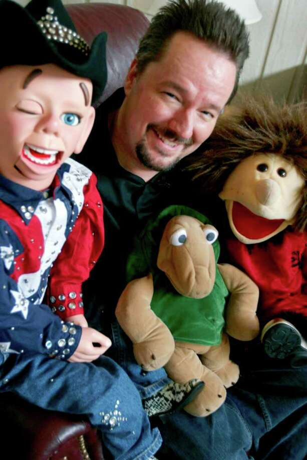 Shown in this file photo is Terry Fator, a Dallas native and winner of America's Got Talent, surrounded by his faithful puppets, Walter T. Airdale, left, Winston The Impersonating Turtle, bottom center,  and Emma Taylor in  Dallas, Nov. 5, 2007. Photo: ELIZABETH M. CLAFFEY, AP / DALLAS MORNING NEWS