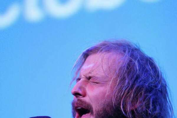 Bon Iver: Musician Justin Vernon performs at in New York City.