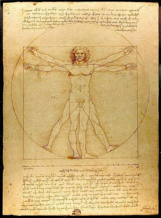 """""""Vitruvian Man"""" by Leonardo da Vinci, Galleria dell' Accademia, Venice (1485-90) Photo: Leonardo Da Vinci"""