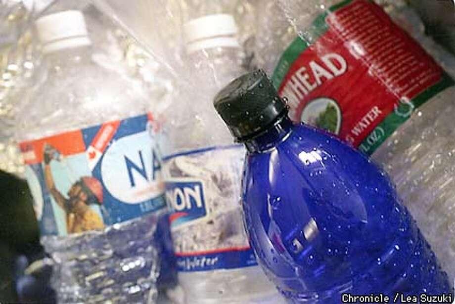 Bottled water. BY LEA SUZUKI/THE CHRONICLE Photo: LEA SUZUKI