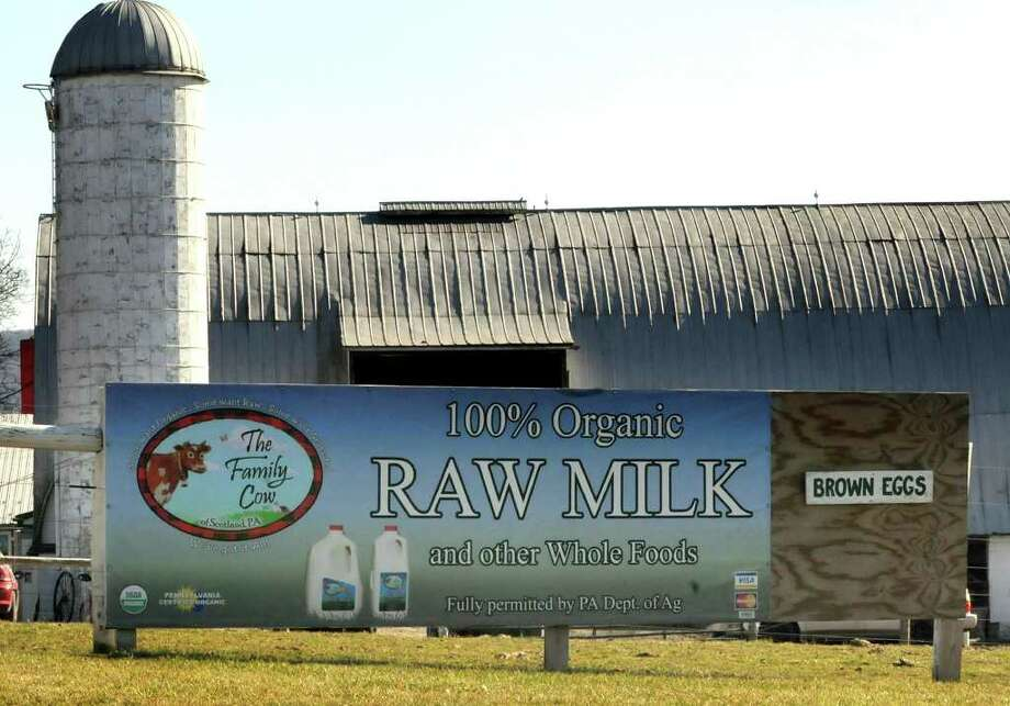 Pennsylvania health officials say 38 people in four states have been stricken with illness after consuming raw milk from The Family Cow facility in Scotland, Pa. The confirmed cases of campylobacter bacterial infection include 31 people in Pennsylvania, four in Maryland, two in West Virginia, and one in New Jersey. Photo: Markell DeLoatch / Public Opinion