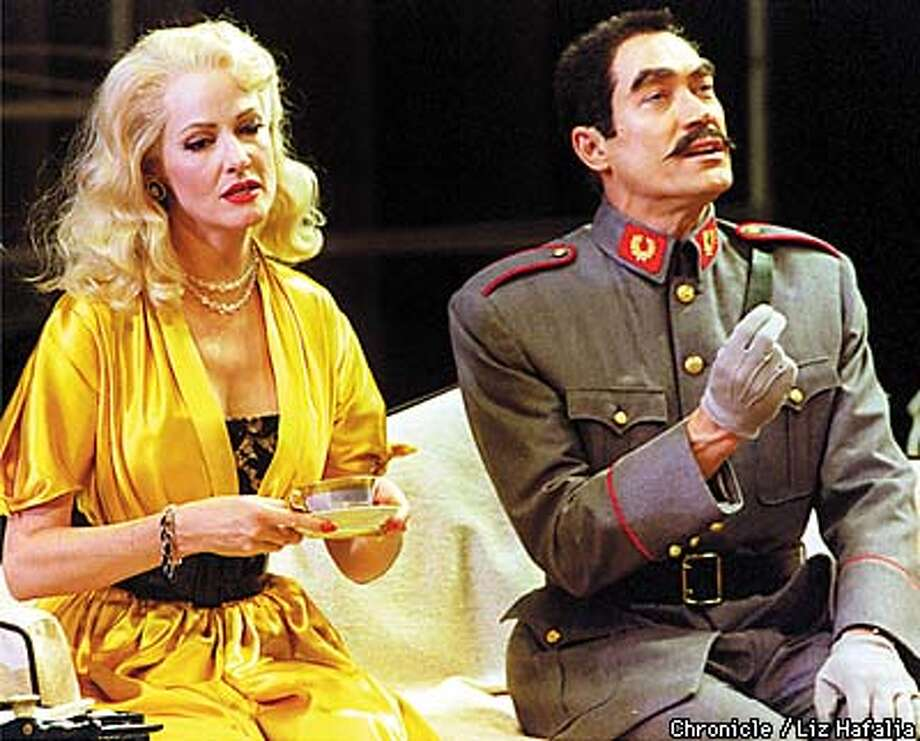 American Conservatory Theater presents 'Guardsman'. At right is James Carpenter playing the Actor and Lynnda Ferguson (left) playing the Actress during the first act. Photo by Liz Hafalia Photo: LIZ HAFALIA