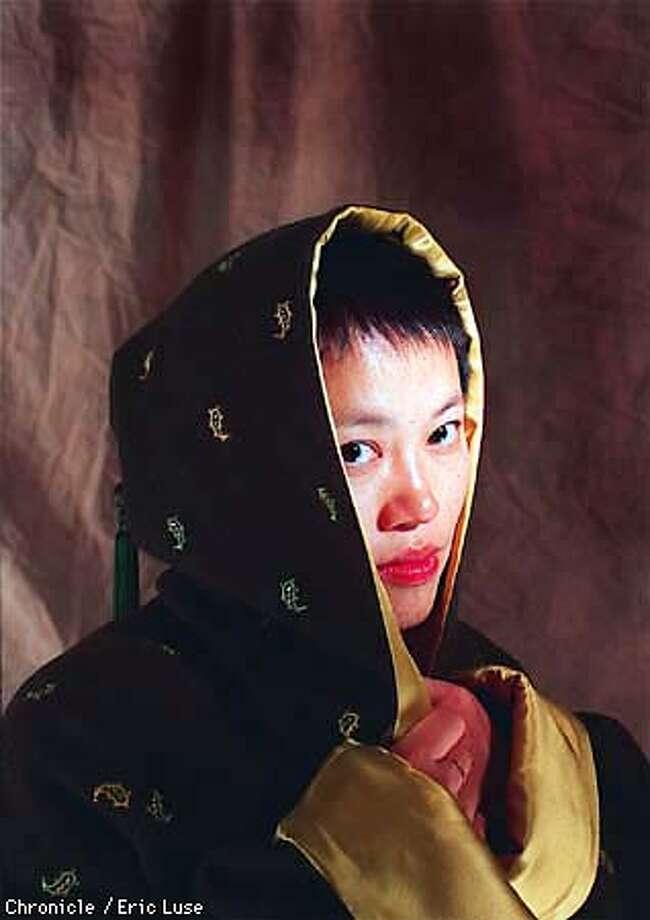 Clothing designer Han Feng.  Photo by Eric Luse Photo: Eric Luse