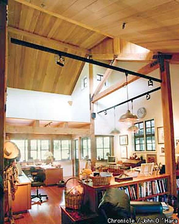 Home office, Julie Solomon Atwood in Glen Ellen., looking out toward the entry way into the office.  Photo by..........john O'Hara