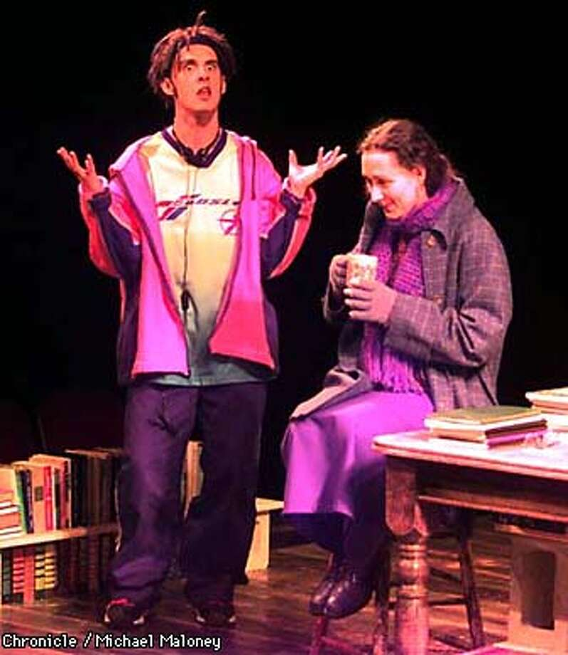 Dress rehearsal of Skylight at the Berkeley Repertory Theatre.  Daniel Talbott (left) and Susan-Jane Harrison. Photo by Michael Maloney Photo: MICHAEL MALONEY