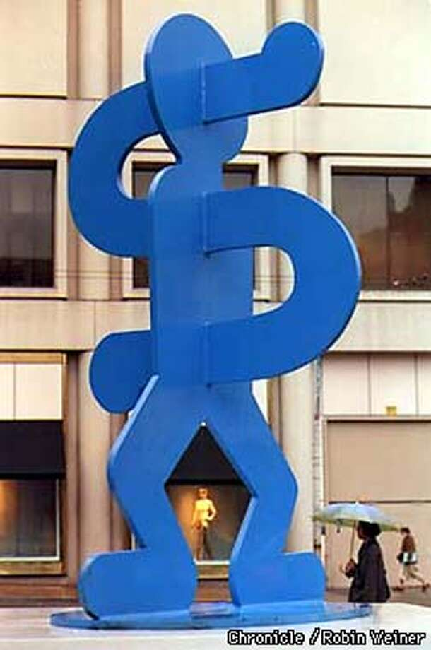 An outdoor Keith Haring sculpture at Union Square. Robin Weiner/The Chronicle
