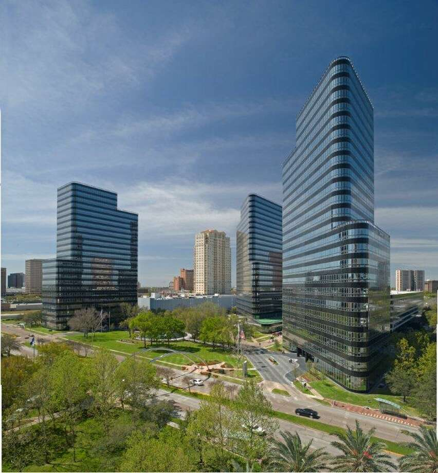 Apache Corp. is staying at Post Oak Central - an office complex with towers designed by Philip Johnson. Photo: Crescent Real Estate Holdings
