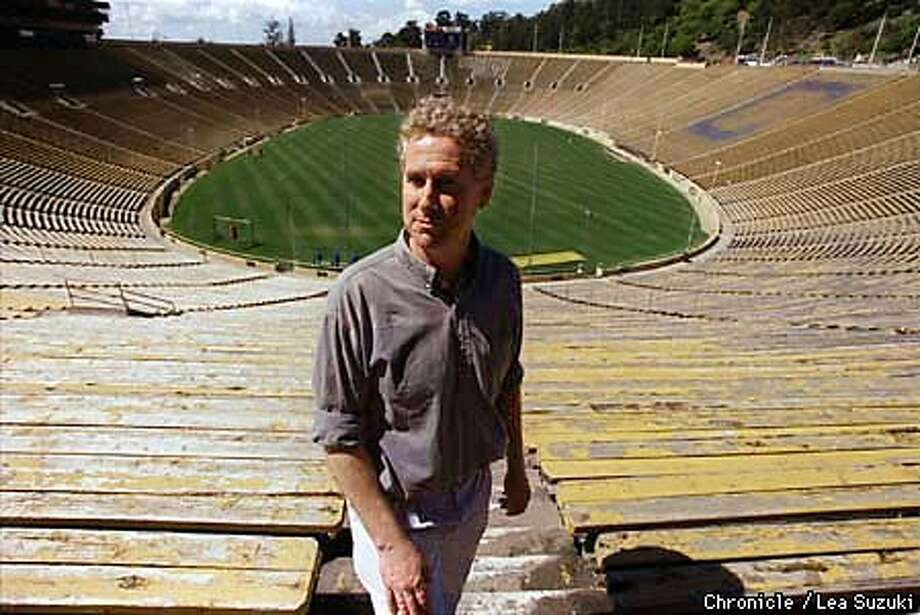 Patrick Williams, UC Berkeley Geologist. The Cal Stadium, the biggest building on campus, sits right on the fault and has become the biggest risk of massive loss of life from an earthquake in the U.S., if not the world. Photo By Lea Suzuki Photo: LEA SUZUKI