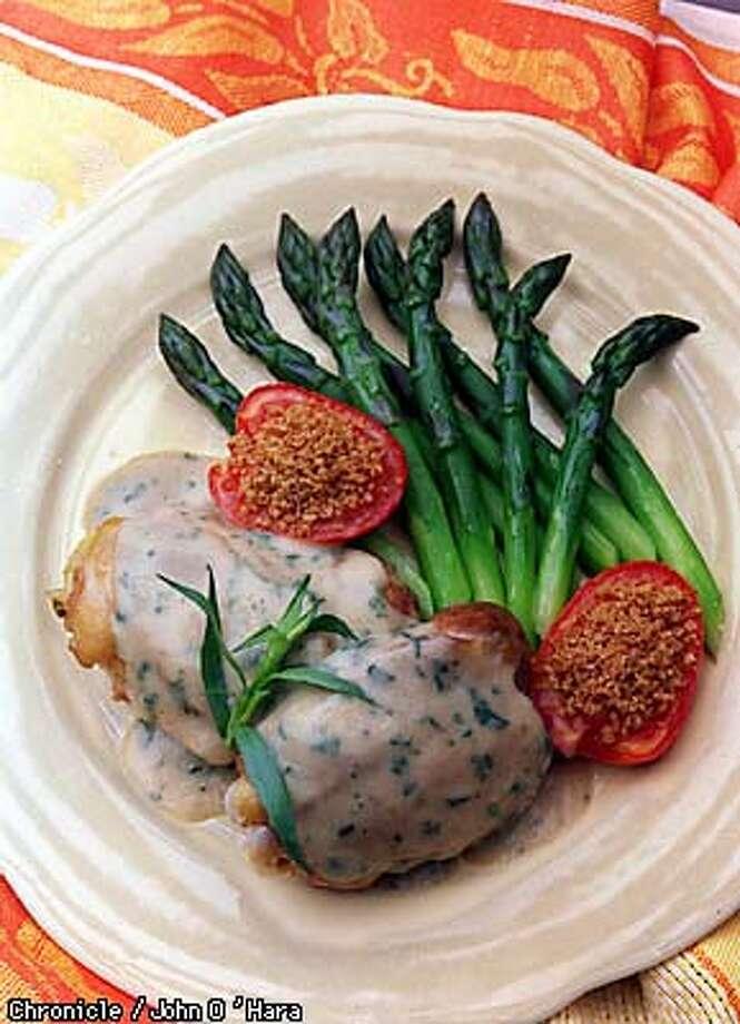 Braised Chicken with mustardf-tarragon sauce  Photo by.............John O'Hara Photo: John O'Hara