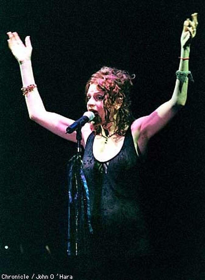 Sandra Bernhard, one person show at the Alcazar.  Photo by.........john O'Hara Photo: BERHHARD1/C/24MAR98/DD/JO'H