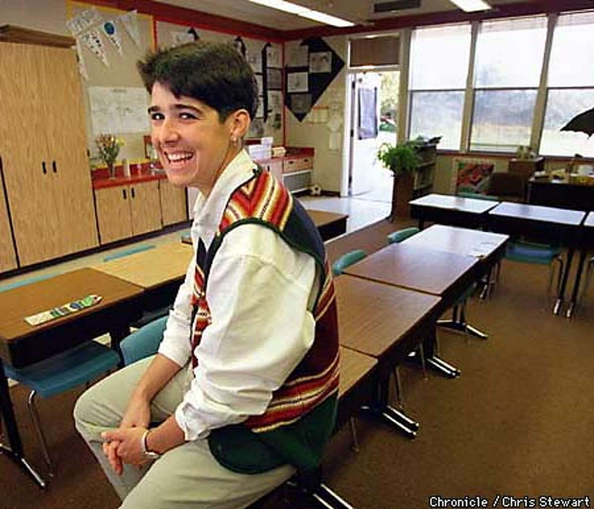 Victoria Forrester, an elementary school teacher at Amelia Earhart Elementary School in Alameda had the support of her school district when a parent, upset over a brief discussion of homosexuality in her classroom, removed his child from school and sued. SAN FRANCISCO CHRONICLE PHOTO BY CHRIS STEWART