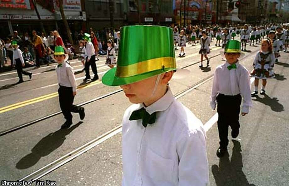 = 10 year old Connolly (cq) Strombeck from Oakland marched the ST. Pat parade with Healy's Dance Group. PHOTO BY TIM KAO/THE CHRONICLE Photo: TIM KAO