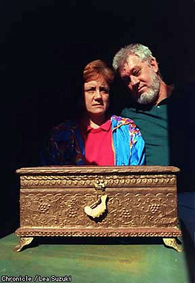 From left: Elena and Ross Worden by their son's urn. Their son committed suicide last summer while in juvenile detention and the Worden's are suing San Francisco's juvenile and public health department's for failing to adequately treat and supervise their children. Photo by Lea Suzuki Photo: LEA SUZUKI
