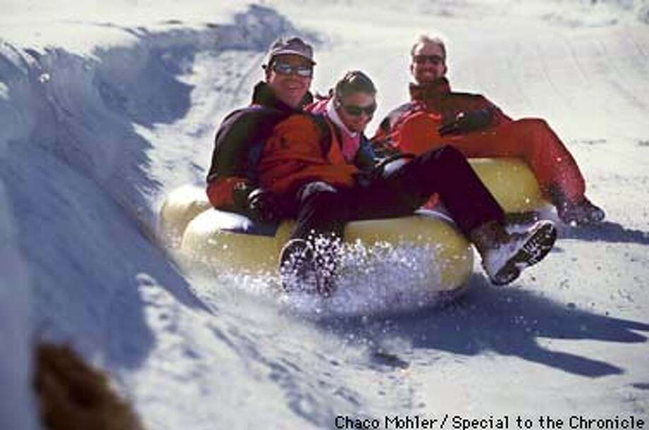 L TO R Dave Ashey, Allison Ashey & Bill Greeno make their way down the hill at Soda Sp[rings Winter resort . By Chaco Mohler/ Special to the Chonicle Photo: CHACO MOHLER