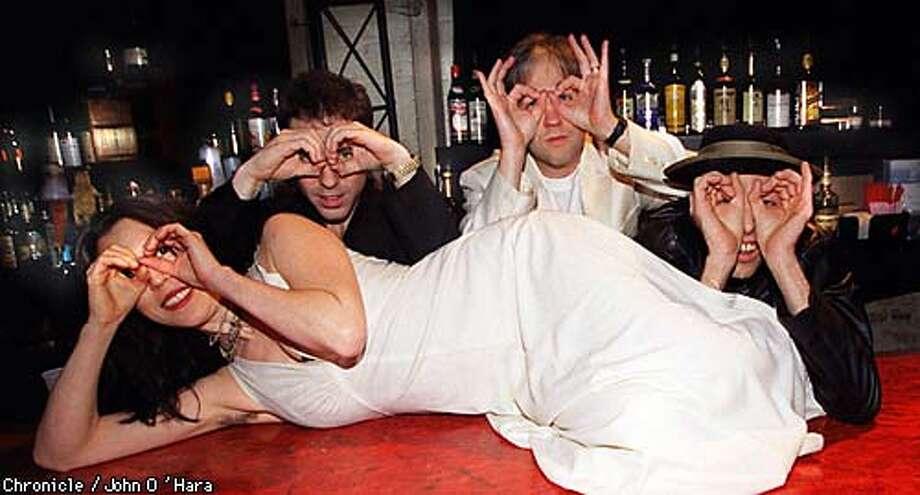 Jeff Kingman (white), Shana Kingsley (white), Killian MacGreraghty (target), & Joe Castiglione  photo by........John O'Hara