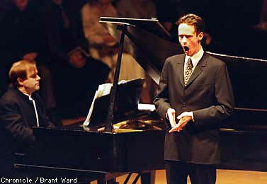 Hot new British tenor Ian Bostridge performed in his United States debut at Hertz Hall on the UC campus in Berkeley. By Brant Ward/Chronicle Photo: BRANT WARD