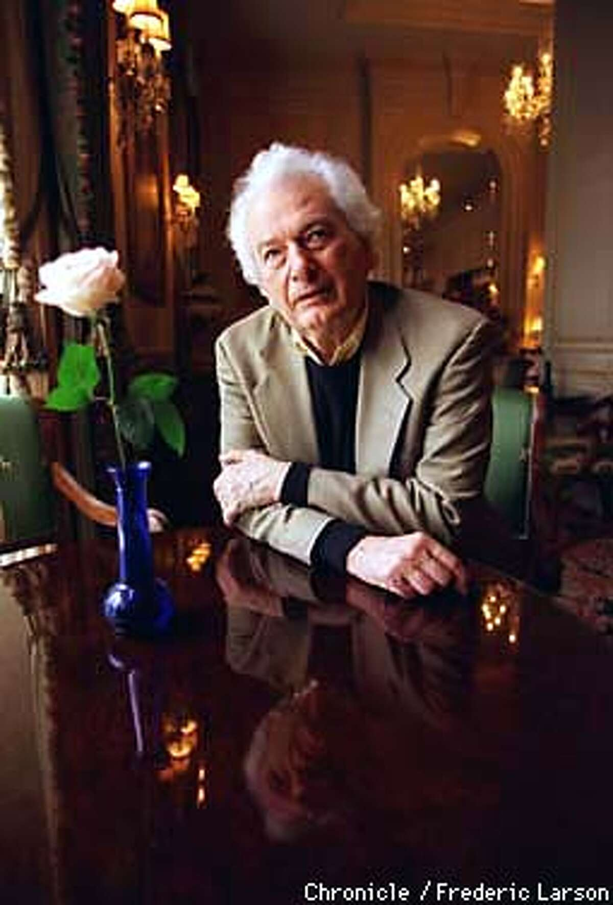 """HELLER/C/17FEB98/DD/FRL: Joseph Heller, auther of """"Catch 22"""" has a new book out called """"Now and Then."""" Chronicle photo by Frederic Larson"""