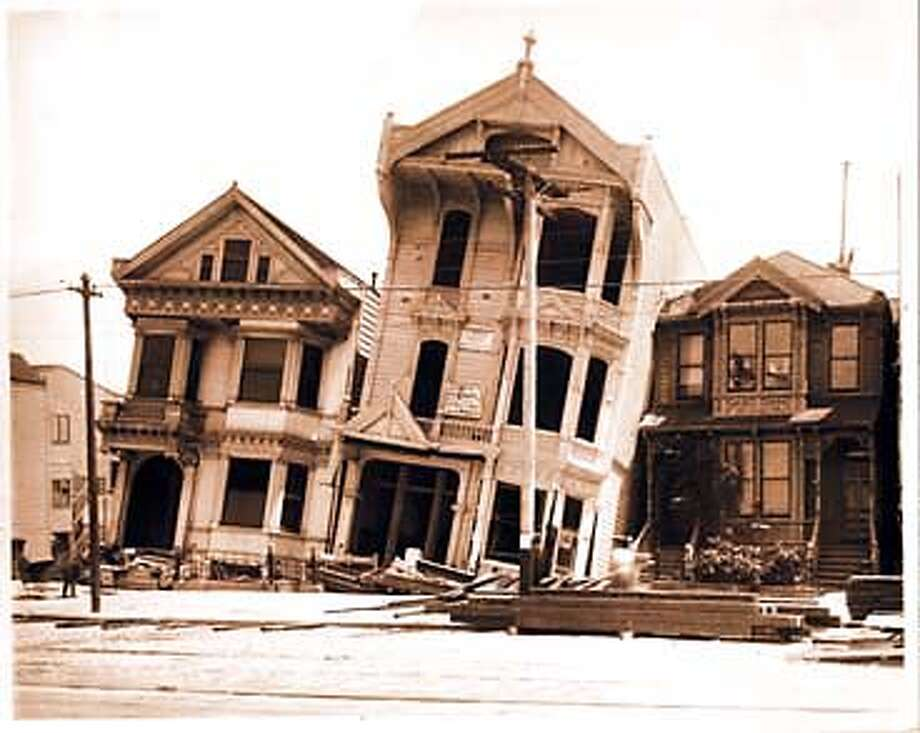 WHOOPS!: Bolting and shear walls would have certainly helped these houses that slid off their foundations in the 1906 quake.