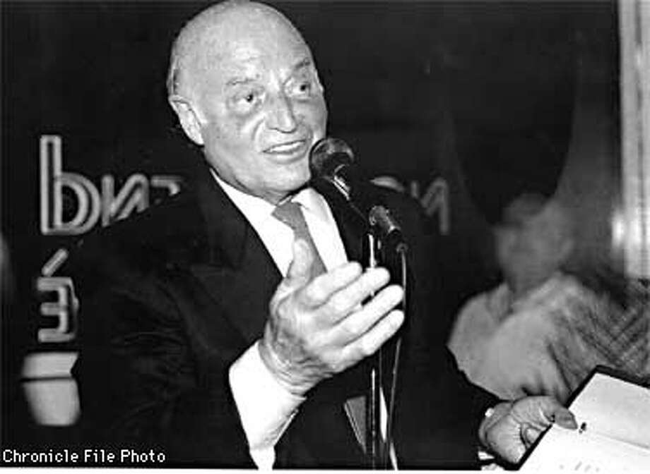 Joe Alioto: 1918-1998. Chronicle Photo.
