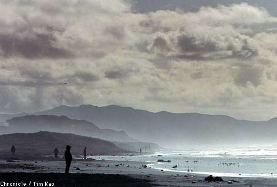 =Cloud, mist, and Sun at Ocean Beach. photo by Tim kao/the chronicle