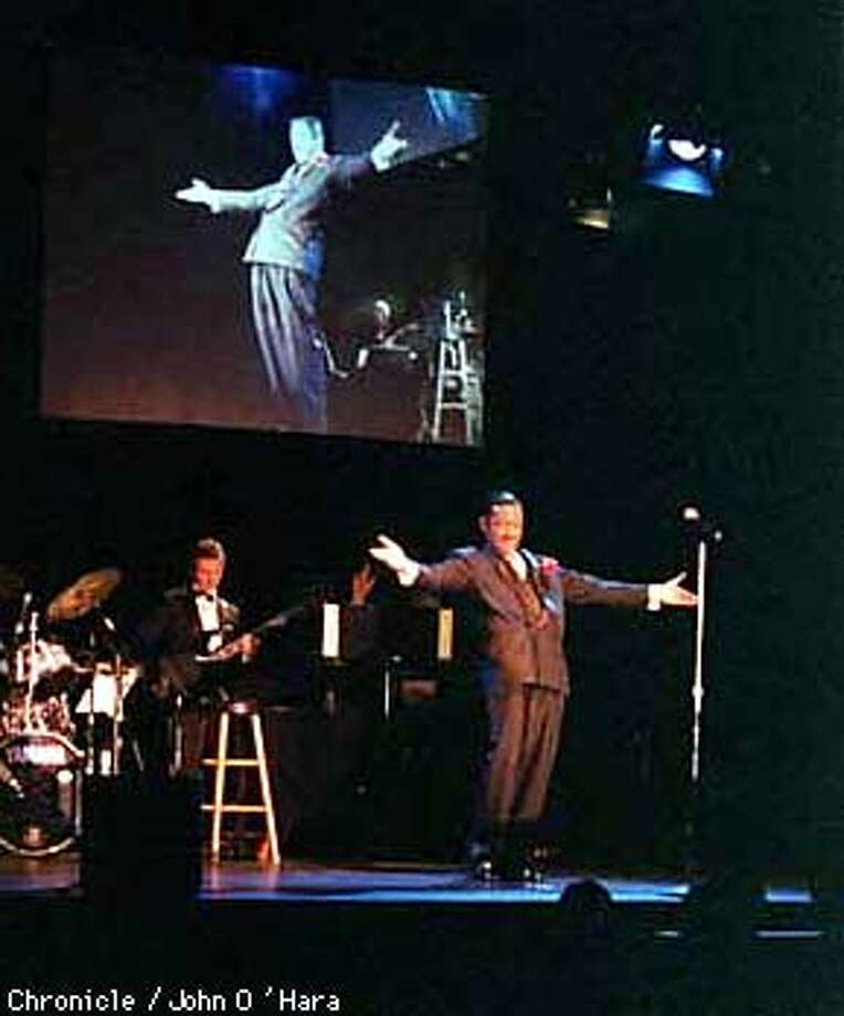 "Alcazar Theater, 650 Geary st.  Entertainer David Hayes performs ""Sammy"". A tribute to Sammy Davis Jr.  Photo by.........John O'Hara"